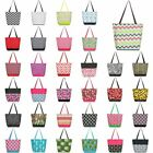 Lightweight Large All Purpose Shopping Travel Zippered Top Closure Tote Bag