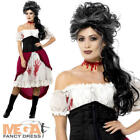 Victorian Slasher Victim Ladies Fancy Dress Ripper Halloween Women Adult Costume