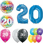 Age 20 - Happy 20th Birthday Qualatex Balloons {Helium Party Balloons Boy/Girl}