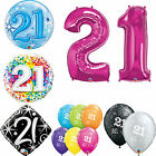 Age 21 - Happy 21st Birthday Qualatex Balloons {Helium Party Balloons Boy/Girl}