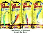 "Northland 1-3/4"" Glitter Hot Super-Glo Ice Fishing Jiglets Jig - Choice Of Color"