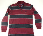 Mens Shirts Chaps Casual Long Sleeve Mid-Zipper Comfortable Wear Size M