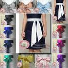 "109"" long satin sash belt ribbon for WEDDING bridesmaid flower girl fancy dress"