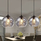 Modern Glass Ball Crystal Ceiling Light Kitchen Bar Pendant Lamp Lighting