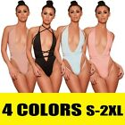 Women Fitness Sports Jumpsuit Bandage Bodysuit Leotard Romper Top Bathing Suit