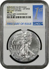 2016 W Burnished Silver Eagle First Day Of Issue 30th Ann. NGC MS70 ( IN STOCK )
