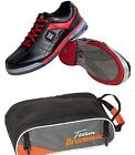 Mens TPU X Bowling Shoes with Soles & Heels Black/Red & Shoe Bag Size 9 - 13