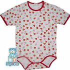 BIG TOTS Strawberries adult size bodysuit baby fabric