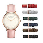 Fashion Leather Lady Women Genuine Leather Quartz Movement Water Resistant Watch