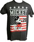 Mickey Mouse Americana 1928 American Flag Patriotic Adult T-Shirt