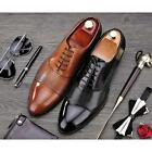 US Size Breathable genuine Leather Mens Lace Up Formal Dress Oxford Shoes New
