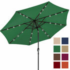 BCP 10FT Deluxe Solar LED Lighted Patio Umbrella W/ Tilt Adjustment - Multicolor