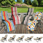 Sun Lounger Reclining Recliner Chairs Outdoor Garden Patio Relaxer With Cushion