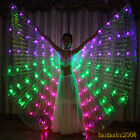 rechargeable new led isis wings belly dance light up glow dancer include sticks