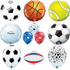 Qualatex Sport Themed Latex & Foil Balloons: Football, Rugby, Golf, Tennis Balls