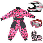 Leopard PInk Youth Junior Motocross MX Helmet Kids Motorbike Camo Suit Off Road