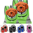 Leather Breathable Mesh Cloth Pet Puppy Dog Cat Backpack Animal Carrier Bag Cute