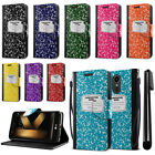 For LG K20 Plus LV5 M250 Composition Book Design Wallet Cover Case Stand + Pen