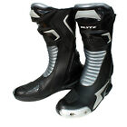 Blytz X-Race Black Silver Leather Motorcycle Race Boots New RRP £99.99!!!