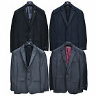 Rock & Republic Blazer Mens Coat Sport Slim Jacket Blue Black Plaid Long Regular