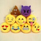 "Emoji Emoticon Round Cushion Poo Stuffed Soft 2/3/6"" Pillow Plush Gift"