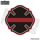Firefighter Thin Red Line Maltese Cross Decal Fire Vinyl Sticker M55