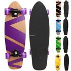 "27"" x 8""  Retro Skateboard Cruiser Style Complete Deck Wooden Skate Board"