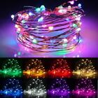 100 LED USB Fairy String Christmas Day Coloured Fairy Lights Waterproof New
