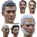 """1/6 Scale Male's Head Sculpt Carved Headplay For 12"""" Muscular Action Figure Body"""