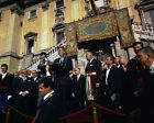 President John F. Kennedy speaks at City Hall in Rome Italy 1963 Photo Print