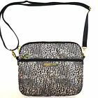 Victoria's Secret Leopard Print Tablet Cover iPad Case Strap Zip Closure Vs New
