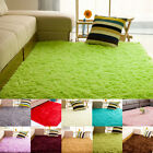 Anti-skid Shaggy Area Rug Yoga Carpet Home Bedroom Floor Dining Room Mat US