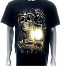 g64 Rock Chang T-shirt Tattoo Skull Glow in Dark Pirates Party Never Die Ghost