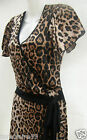 SAVIDA @ DUNNES LEOPARD PRINT STRETCH JERSEY WRAP DRESS SIZES 8,10