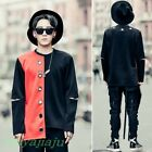 Men's Fashion Ringe Hollow Out Long Sleeve Hoodies Tops Freestyle Youth T-shirt