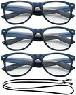 Blue Readers Horn Rimmed Translucent Color Frame Reading Glasses