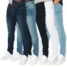 Loyalty & Faith Mens Slim Stretch Fade Wash Solid Colour Classic Jeans Trousers