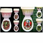 Horror skull toilet seat sticker Halloween toilet stickers home decoration