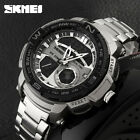 SKMEI Men LED Date Digital Quartz Watch Sport Military Stainless Steel Watch NEW
