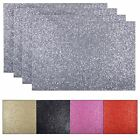 Set Of 4 Sparkly Glitter Placemats Dining Table Place Settings Mats 45x30cm