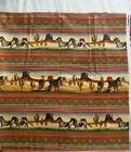 fabric Flannel Horses cactus South Western sold by the yard BTY