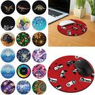 Designer Circle Mouse Pad Non-Slip Rubber for Home Office Gaming Desk