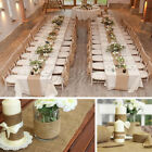 10M Hessian Burlap Roll Vintage Table Runner Chair Sash DIY Wedding Party Decor