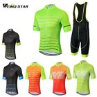 2017 New Cycling Jersey Men Weimostar Short Sleeve Breathable Bib Shorts Suit