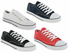 Canvas Low Cut Pumps Womens Lace Up Trainers Plimsolls Shoes Boys Girls UK 3-8
