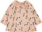 Name it Baby Sweat-Tunika aus Biobaumwolle Vogelmotiv angeraut Nitgea