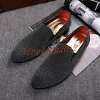 ALL UK Hot Sale Mens Loafer Weave Slip on Casual Flats heel Pointy toe shoes SZ