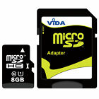 Micro SD SDHC TF Memory Card High Speed Class +SD Adapter For TomTom Sat NAV GPS