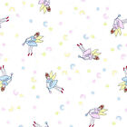 FAIRY MOON AND STARS - PRETTY CHILDRENS NURSERY PRINT per m 100% COTTON FABRIC