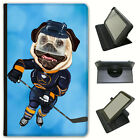 Pug Sport Athlete Rugby Football Tennis Universal Leather Case For KindleTablets